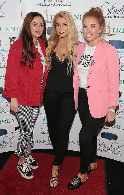 Miss Ireland 2017 finalists attend Krystle Nightclub event