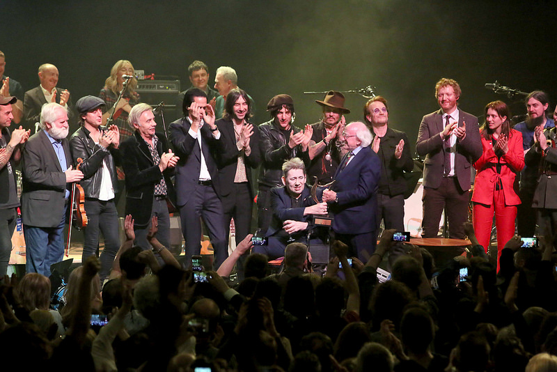 Shane MacGowan's 60th birthday with Johnny Depp, Sinead O'Connor and Bono