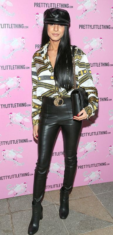 Love Island's Montana Brown and Scott Thomas at PrettyLittleThing's Party
