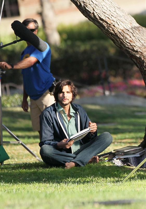 Ashton Kutcher seen on the set of his new movie