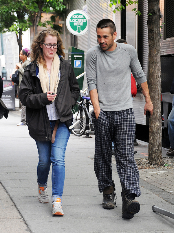 Colin Farrell on set of 'Dead Man Down'