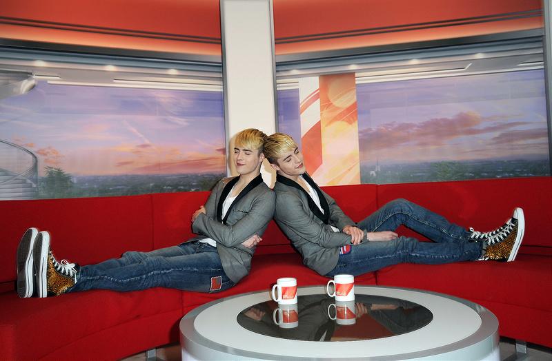 Jedward at BBC Studios