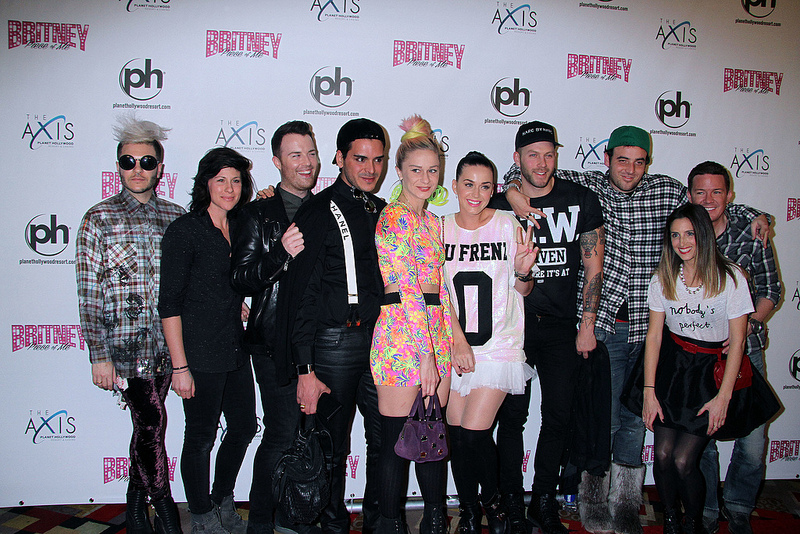 Miley Cyrus, Katy Perry & friends at the grand opening of Britney Spears Las Vegas show