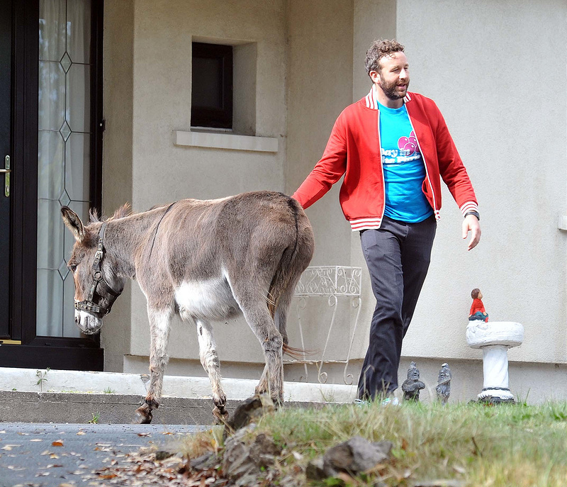 Chris O'Dowd and co-actors on the set of Moone Boy