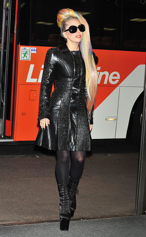 Lady Gaga in leather