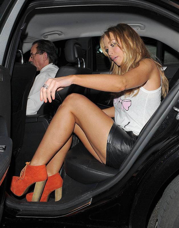 Lauren Pope in Leather