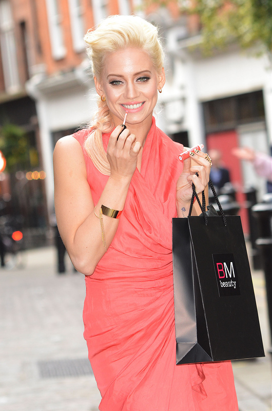 Kimberly Wyatt poses in Soho