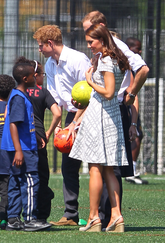 Catherine, Duchess of Cambridge, aka Kate Middleton on the football pitch