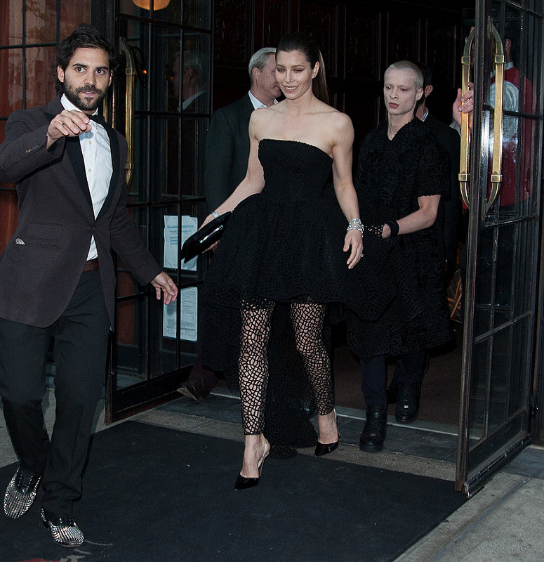 Celebs dash to punk fashion exhibition