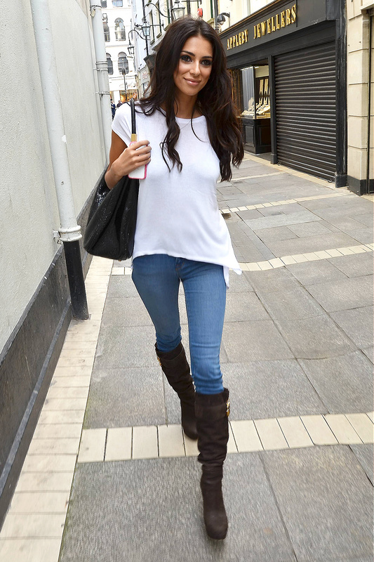 Georgia Salpa is seen walking down Grafton Street