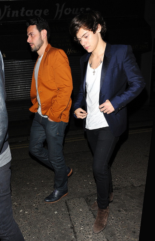 Harry Styles out celebrating his 19th Birthday