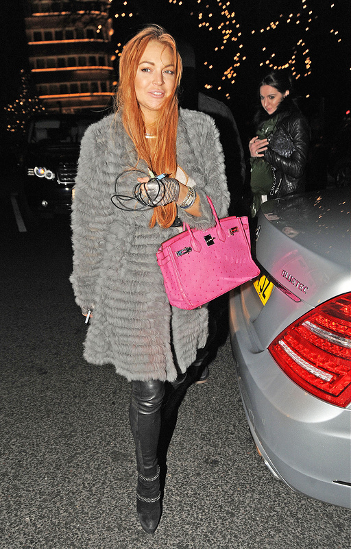 Lindsey Lohan at Harrods