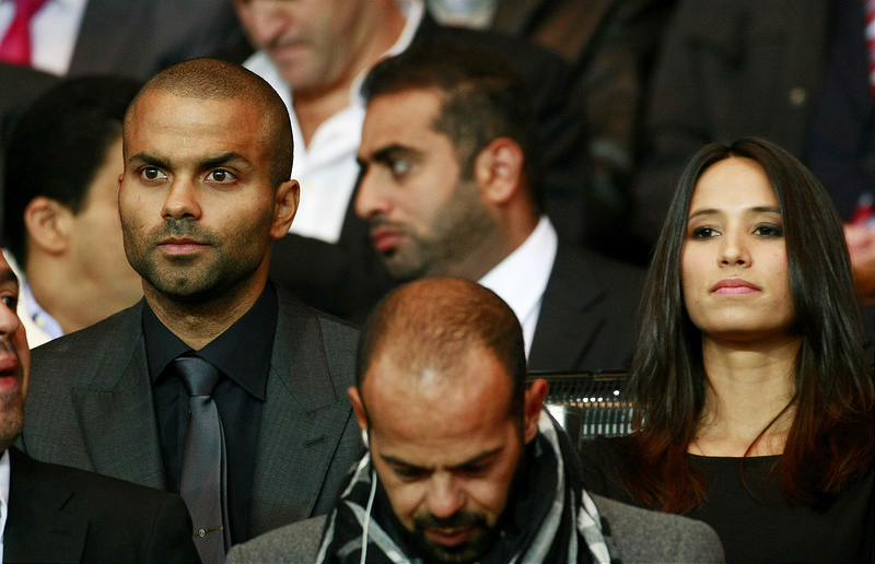Celebs at UEFA Champions League game