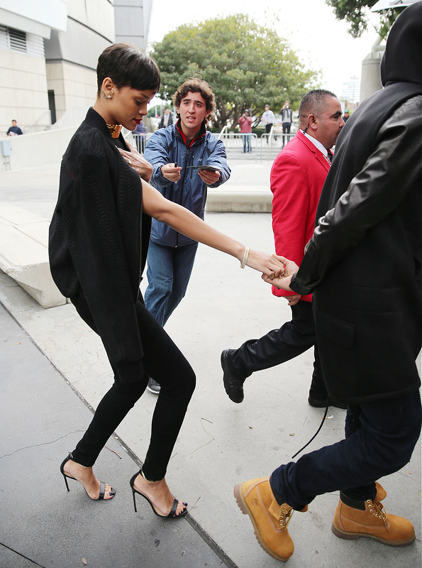Rihanna and Chris Brown hand in hand