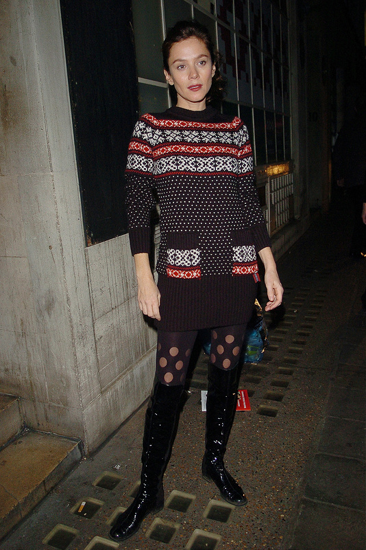 Celebs in their Christmas jumpers
