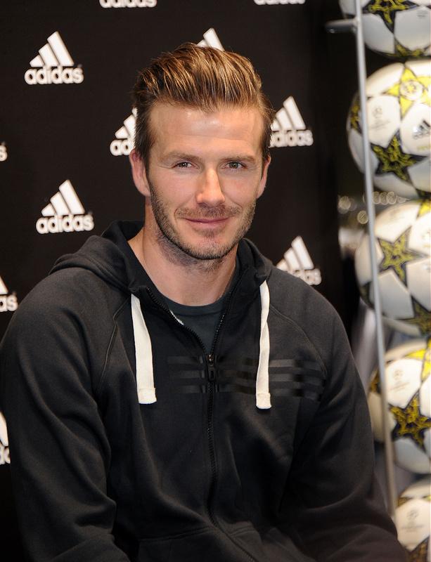 David Beckham at the adidas store Champs-Elysees