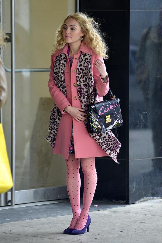 AnnaSophia Robb on the set of 'The Carrie Diaries'
