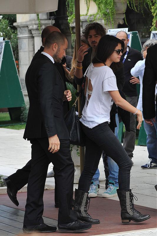 Selena Gomez Spotted at Venice Film Festival