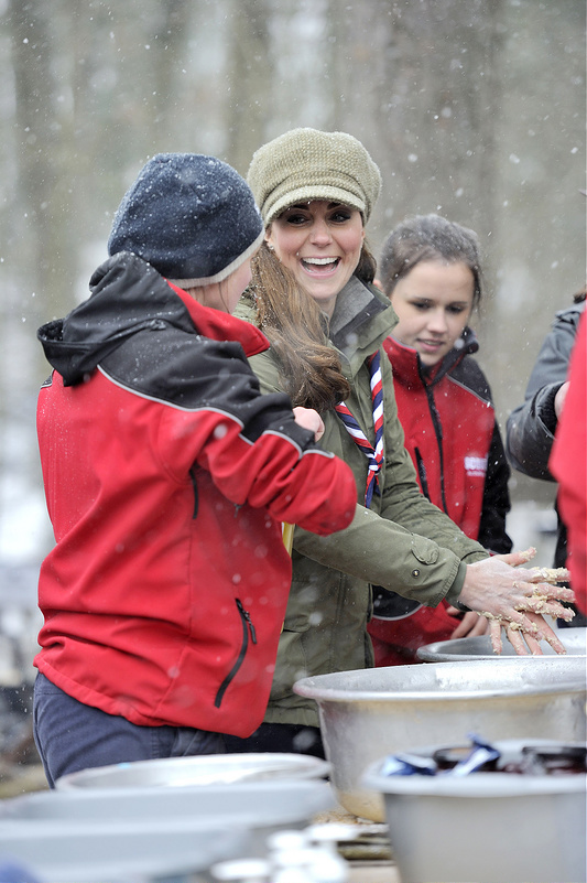 Catherine, Duchess of Cambridge goes camping