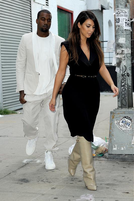 Kanye West and Kim Kardashian Went Shopping