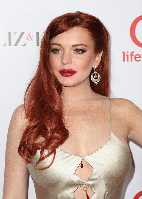 Premiere of 'Liz and Dick' with Linsey Lohan