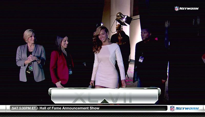 Beyonce preps for Super Bowl