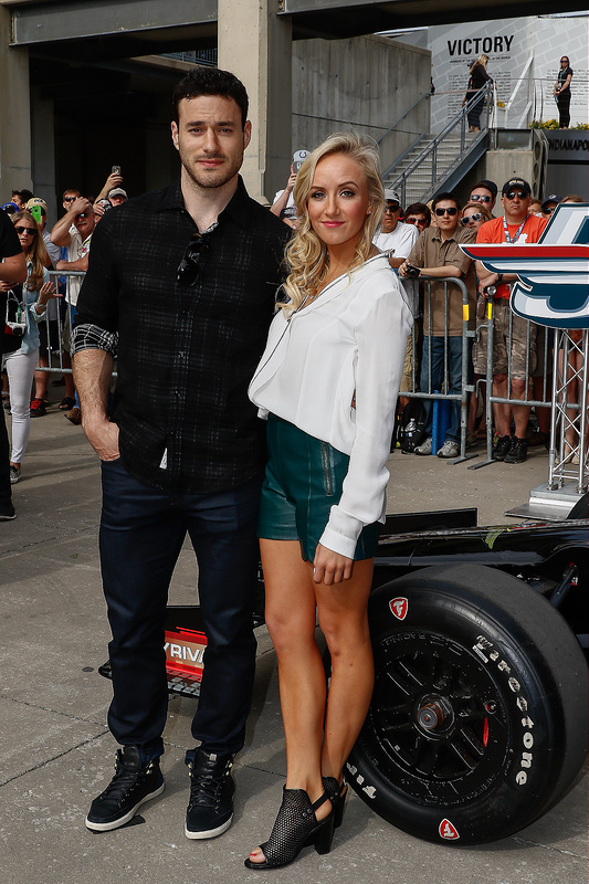 Celebs attend the Indy 500