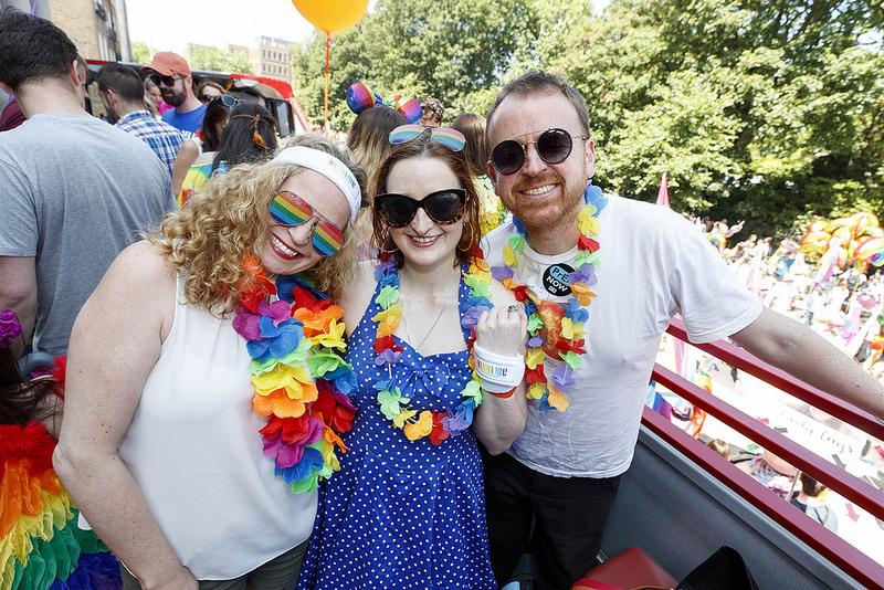 Mamma Mia! Here We Go Again Float at Pride 2018