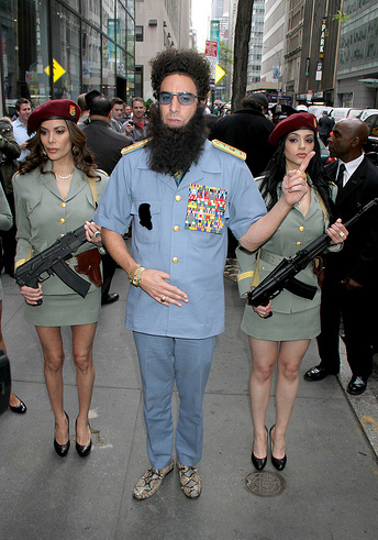 Sacha Baron Cohen arrives in style