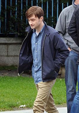 Daniel Radcliffe on set in Dublin