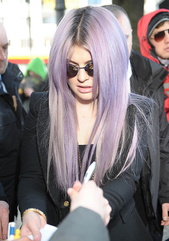 Kelly Osbourne's purple hair