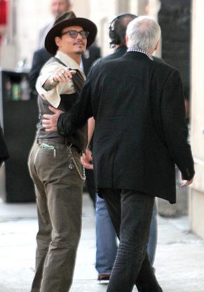 Johnny Depp: Celebs at Kimmel