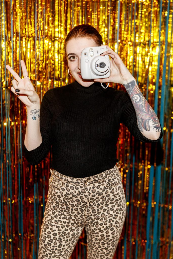 Leanne Woodfull pictured at the instax Christmas party that showcased the perfect selection of must-have gifts. Picture Andres Poveda