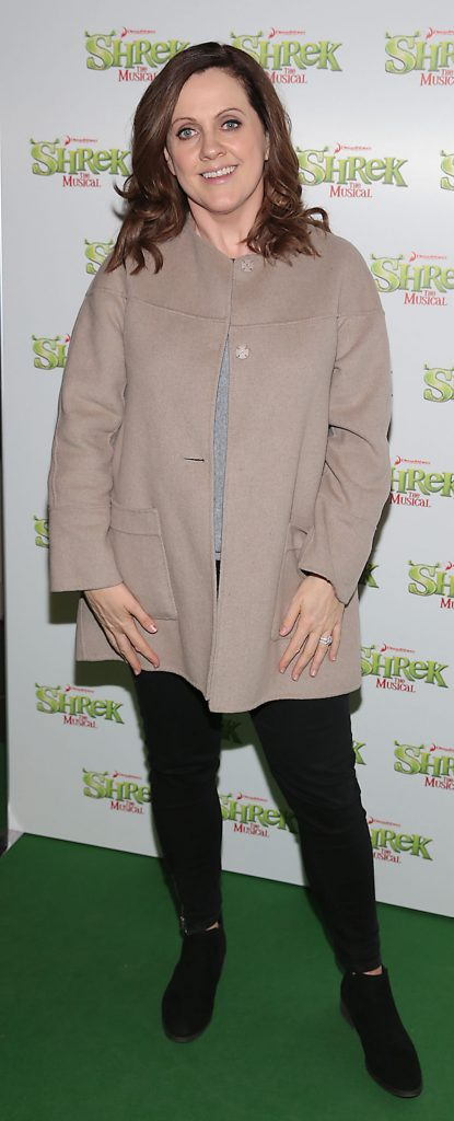 Ruth Scott at the opening night of Shrek the Musical at The Bord Gais Energy Theatre, Dublin. Photo by Brian McEvoy
