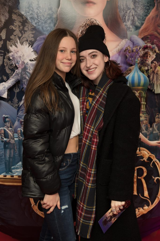 Aoife & Leanne Woodfull at the special preview screening of Disney's 'The Nutcracker & the Four Realms' in Movies at Dundrum. Photo: Anthony Woods.