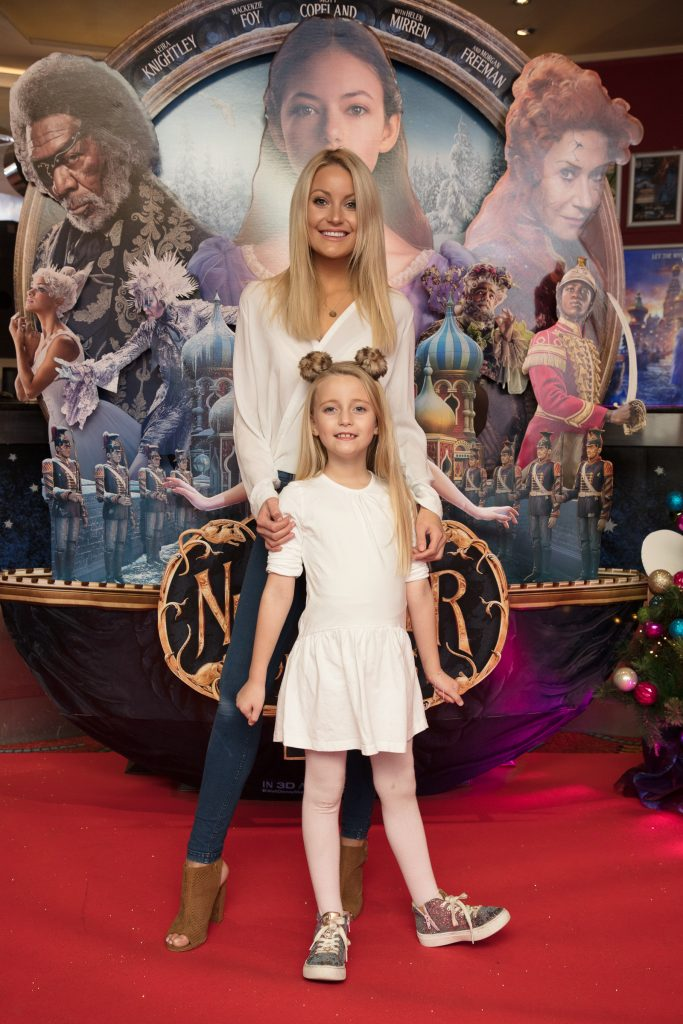 Kayla & Kerri Nicole Blanc at the special preview screening of Disney's 'The Nutcracker & the Four Realms' in Movies at Dundrum. Photo: Anthony Woods.