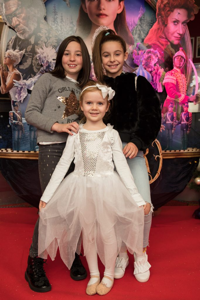 Lara Forsythe & Tara Fitzpatrick & Nova Farrelly at the special preview screening of Disney's 'The Nutcracker & the Four Realms' in Movies at Dundrum. Photo: Anthony Woods.