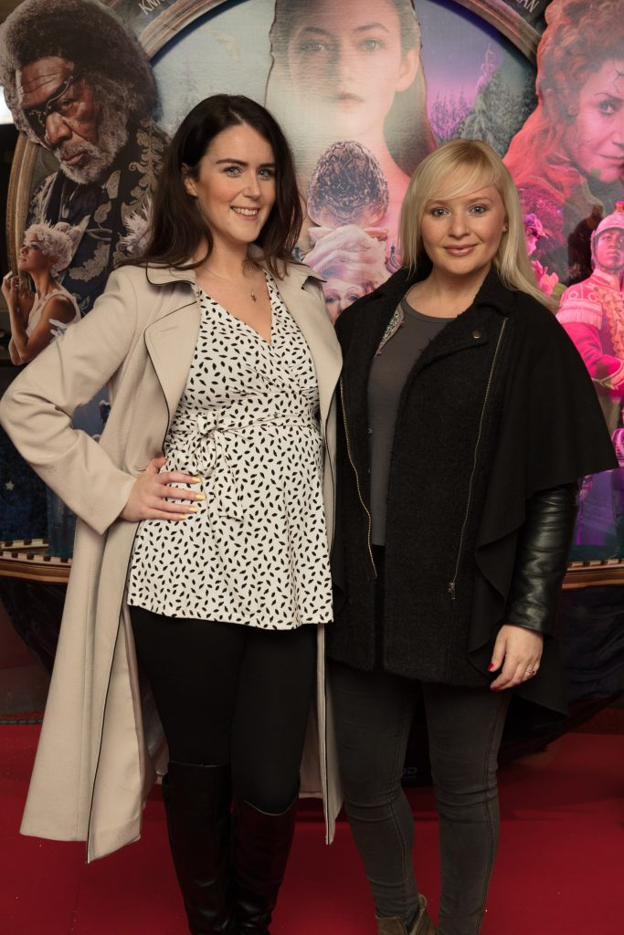 Rachel Sorohan & Claire Malone at the special preview screening of Disney's 'The Nutcracker & the Four Realms' in Movies at Dundrum. Photo: Anthony Woods.