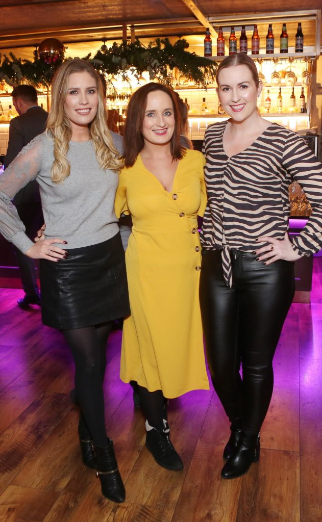 Pictured at the Amazing Aldi Christmas Showcase 2018 is Emma Power, Nicola Bardon and Eithne Kelly. Photo: Leon Farrell/Photocall Ireland