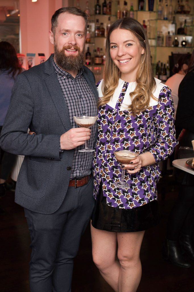 Eoin O' Suilleabhain & Emma Manley pictured at the launch of Lily O'Brien's 'Share Wisely' bags. Photo: Anthony Woods