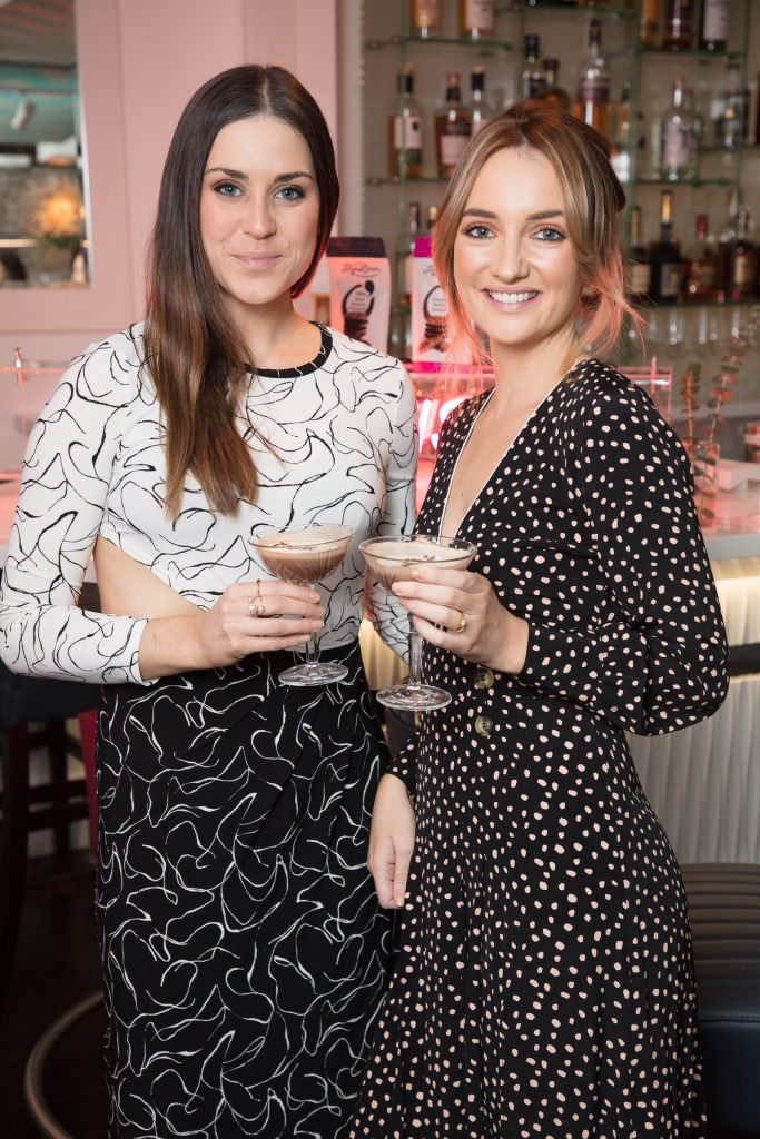 Jo Linehan & Caroline Foran pictured at the launch of Lily O'Brien's 'Share Wisely' bags. Photo: Anthony Woods