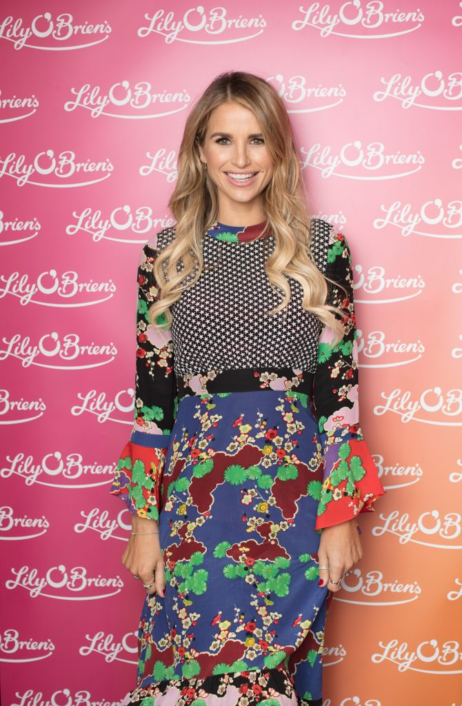 Vogue Williams pictured at the launch of Lily O'Brien's 'Share Wisely' bags. Photo: Anthony Woods