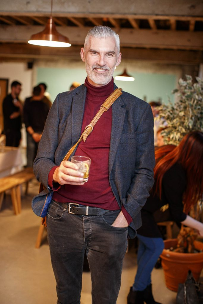Gareth Downing pictured at The Roe and Collective launch, Dollard Printing House.   Roe & Co, a brand that lives and breathes creative reinvention, will bring some of Ireland's most impressive artists and creatives together to celebrate craft in the heart of Dublin city. A yet unused space within the newly revived Dollard Printing House on Dublin's Quays has been transformed into a Roe & Co venue, where the premium Irish whiskey will host workshop sessions, The Roe & Collective. The workshops will take place just a stone's throw from the new Roe & Co distillery on James's Street which is due to open its doors in Spring 2019.  Guests enjoyed a cocktail masterclass with Roe & Co ambassador, Alan Mulvihill, the art of the portrait with wet plate photographer, Alex Sapienza and a copper etching live demo with artist, Helen O'Higgins. Check out Eventbrite.ie for details of the next Roe & Collective event on Saturday, 8th December 2018. Picture Andres Poveda