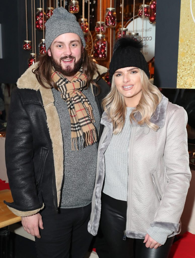 Chris Mellon and Ashley Kehoe pictured at the launch of the SuperValu All Things Considered Christmas Café in aid of ALONE.    Pic: Marc O'Sullivan