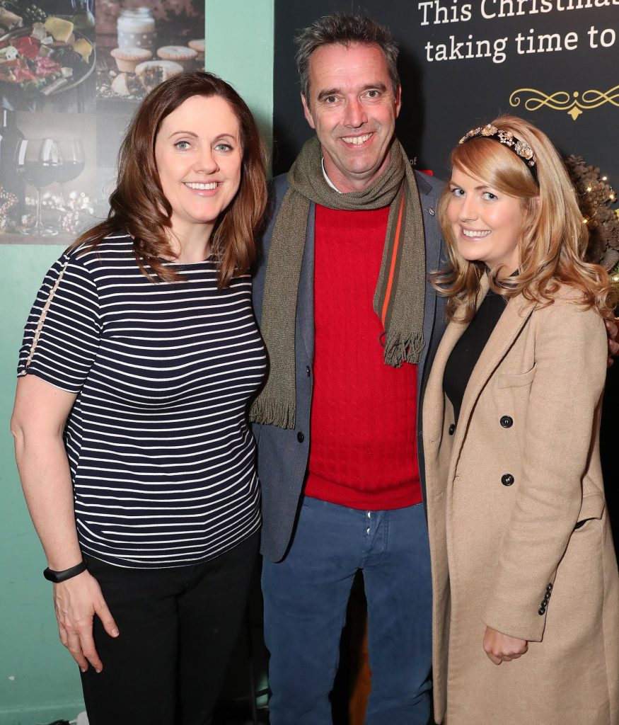 Ruth Scott, Kevin Dundon and Elaine Leonard pictured at the launch of the SuperValu All Things Considered Christmas Café in aid of ALONE.    Pic: Marc O'Sullivan
