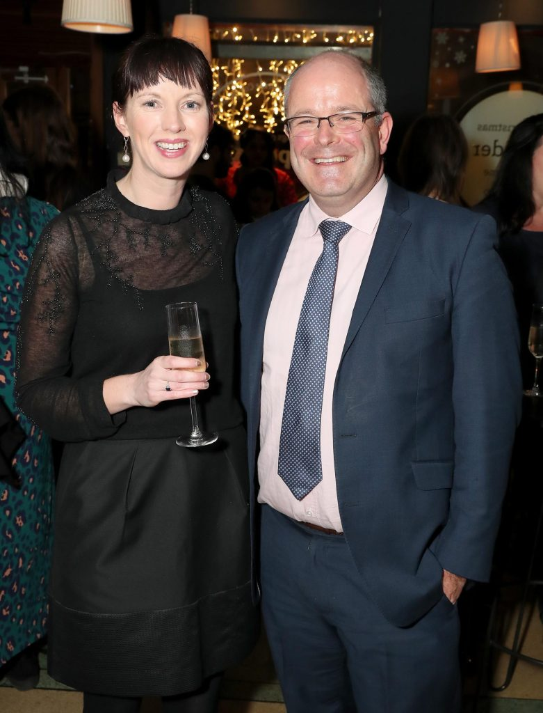 Aoife Finneran and Des O'Mahony pictured at the launch of the SuperValu All Things Considered Christmas Café in aid of ALONE.   Pic: Marc O'Sullivan