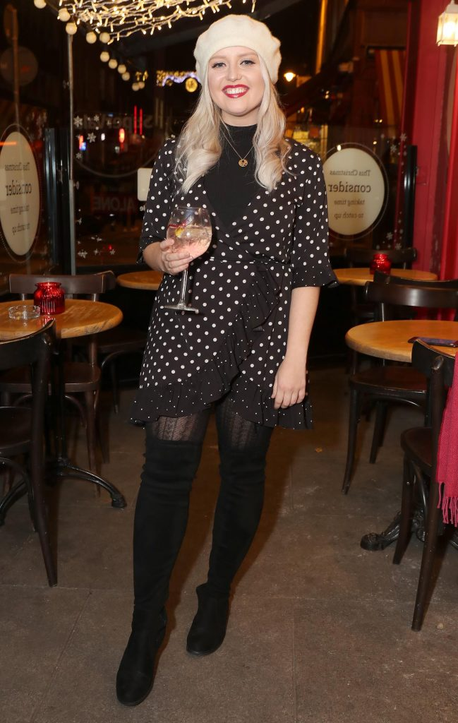 Laura Mullett pictured at the launch of the SuperValu All Things Considered Christmas Café in aid of ALONE.    Pic: Marc O'Sullivan