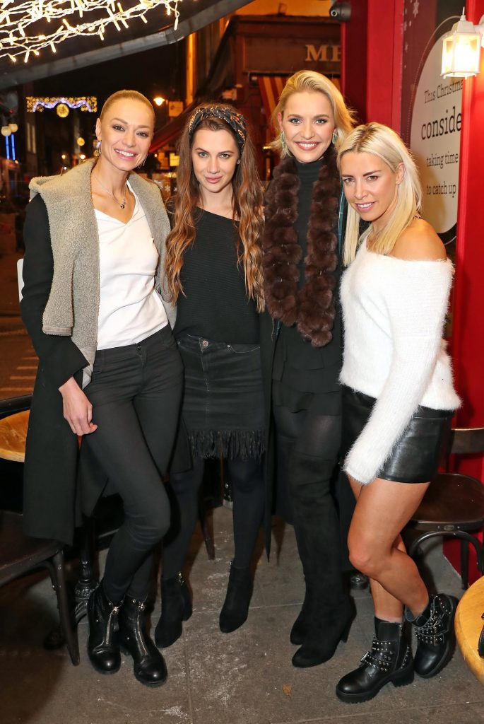 Irma Mali, Alex Keville, Teodora Sutra and Jenni Murphy pictured at the launch of the SuperValu All Things Considered Christmas Café in aid of ALONE.   Pic: Marc O'Sullivan