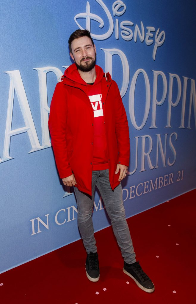 "Kodaline's Jason Boland pictured at a special preview screening of Disney's ""Mary Poppins Returns,"" in the Light House cinema Dublin. Picture Andres Poveda"
