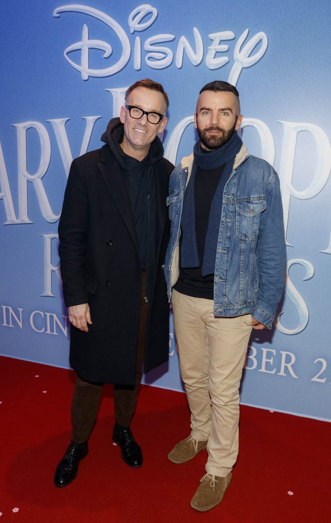 "Brendan Courtney and Adam Maryniak pictured at a special preview screening of Disney's ""Mary Poppins Returns,"" in the Light House cinema Dublin. Picture Andres Poveda"
